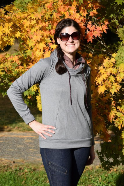 Whether I'm out for a ride, getting my barn chores done, spectating at a local horse trial or going out to lunch, the Warmwear Hoodie is versatile. Photo by Lorraine Peachey.