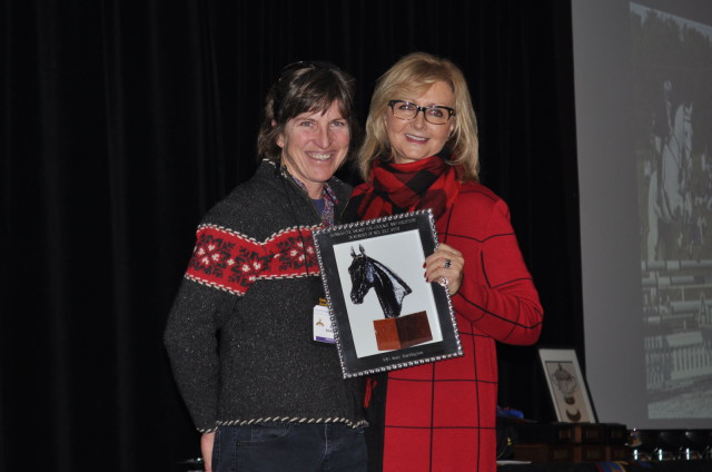 Amy Barrington won the Ironmaster Award, which is given to an individual that exemplifies fortitude and courage. Photo by Leslie Threlkeld.