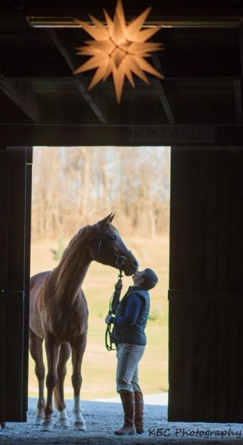 Merry Christmas Eve! Kelly Yoder and River in a ridiculously pretty photo by  KEC Photography.
