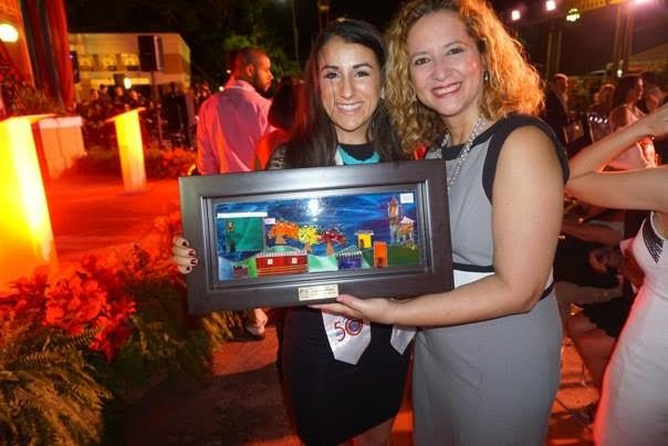 Lauren Billys accepts the award as 2015 Female Puerto Rican Equestrian of the Year. Photo via Lauren Billys.