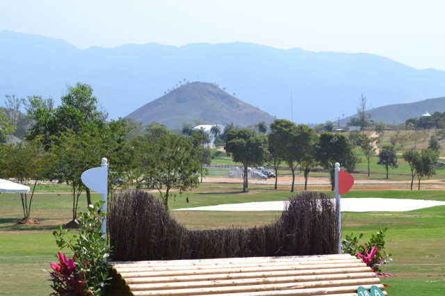 View from the cross-country course at the Olympic Equestrian Center in Deodoro, Brazil. Photo by Leslie Wylie.