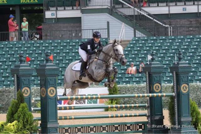 Kristine Burgess and Regatta at NAJYRC in 2015. Photo courtesy of Brant Gamma.