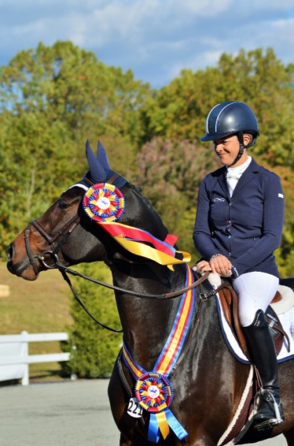 Lynn Symansky and SpectraVET Cohiba at the 2015 East Coast Young Event Horse Championships. Photo by Sally Spickard.