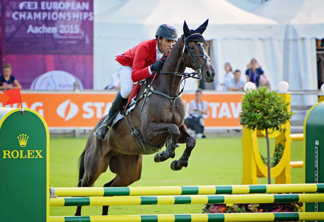 Paul Tapner and Indian Mill at Aachen 2015. Photo by Jenni Autry.