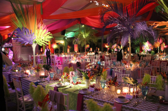 Can you say WOW? The tables were set to perfection at Rockin' Rio. Photo by Rebecca Walton/Phelps Media Group.