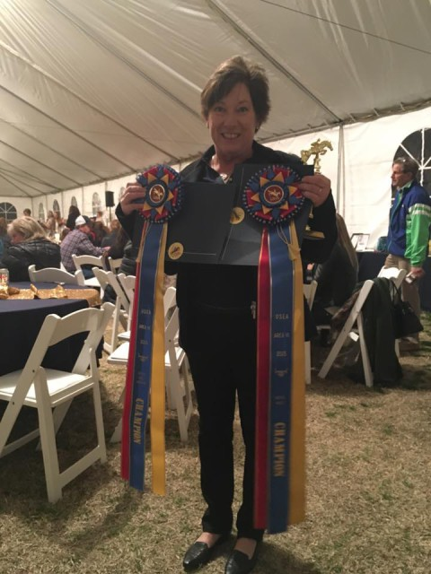 Nice ribbons, Sue Church! Photo from Chloe Smyth's Facebook page