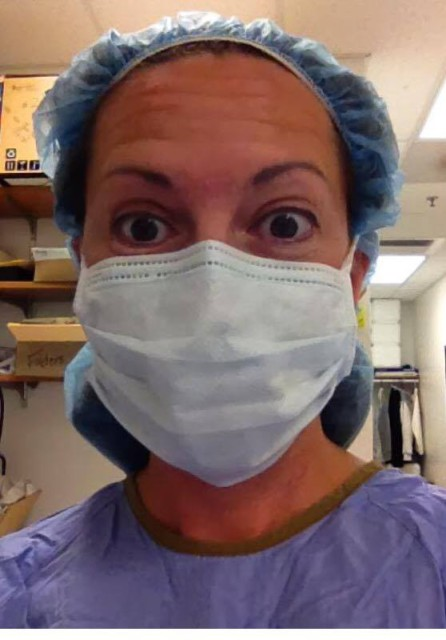 """I play a doctor on TV, too."" Photo courtesy of Laura Szeremi."