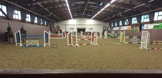 The indoor arena at