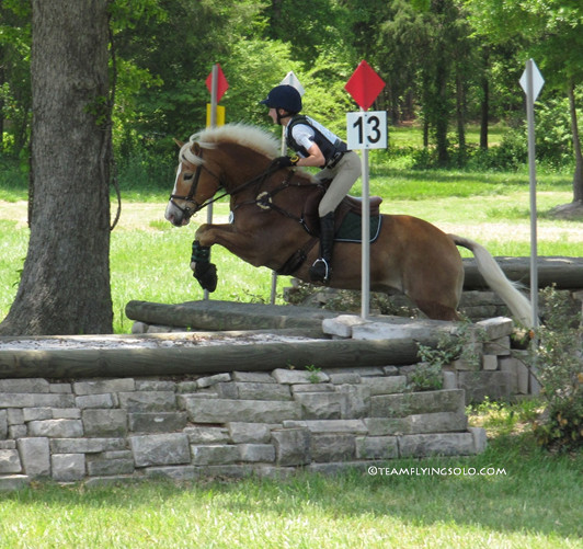 Hailey Rowe and Whinney The Pooh at the 2014 Heart of the Carolinas Beginner Novice Three-Day. Photo by Brena Jones.