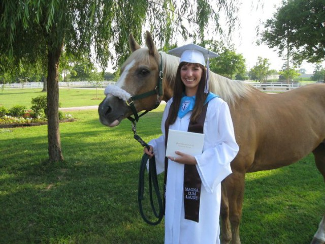 Sunny and I the day of my high school graduation. Isn't he cute?!