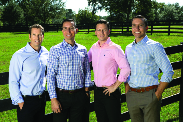 The Wellington Equestrian Realty team. From left: Craig Martin,