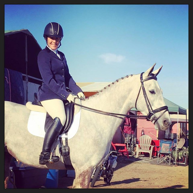 Winnie makes her eventing debut at FCHP. Photo from Maralee Paul's Facebook page.