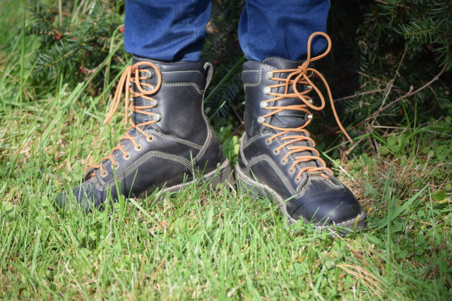 Over the past year, I've found that work boots are a great fit for life around the barn. They are durable, provide good traction, they protect my feet and are still comfortable. Photo by Lorraine Peachey.