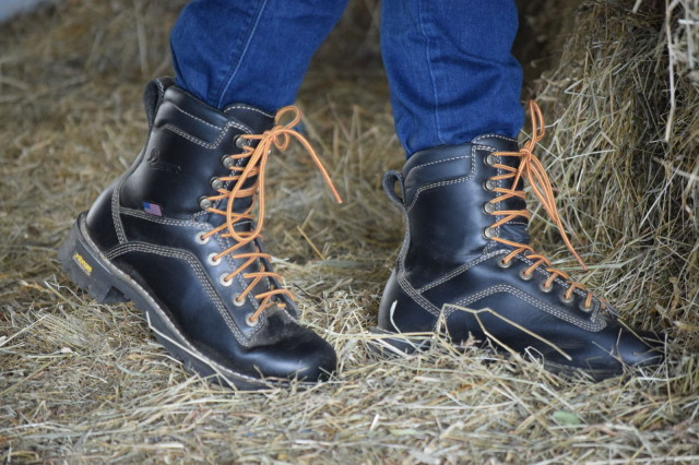 So the verdict? Work boots really can make for a great pair of boots to wear around the barn. The Quarry USA boots from Danner have kept my feel comfortable, protected and dry.  Photo by Lorraine Peachey.