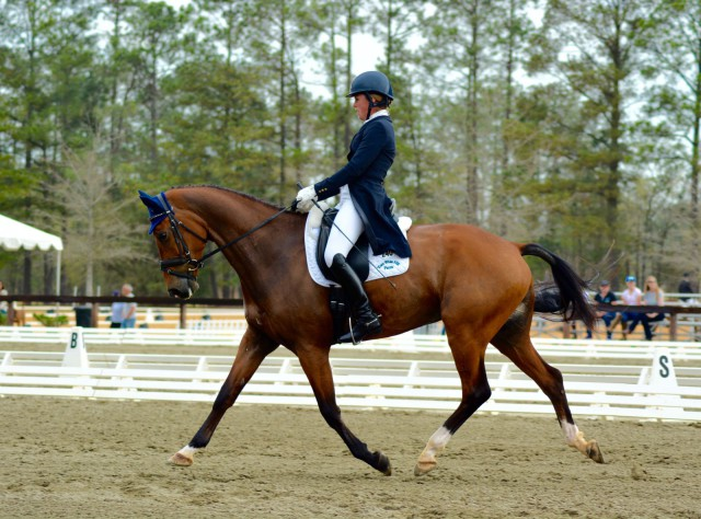 Kylie Lyman and Lup The Loop scored a 28.5 for 2nd place. Photo by Kate Samuels.
