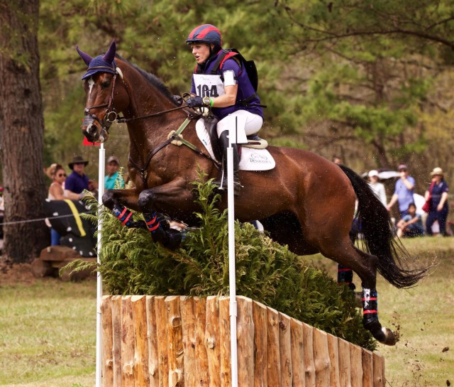 Justine Dutton and Huck Finn at Red Hills. Photo by Kasey Mueller/Rare Air Eventing Photography.