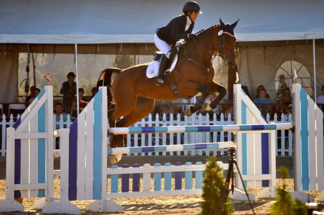 Could be a medal round! Lauren and Purdy cruise to victory in Woodside's CIC 3*. Photo by Lisa Takada.