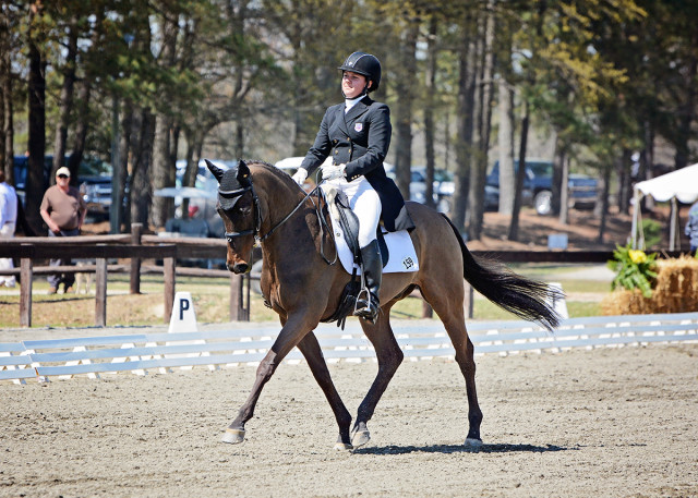 Libby Head and Sir Rockstar on their way to their first CIC3* score in the 50s at Carolina International. Photo by Jenni Autry.