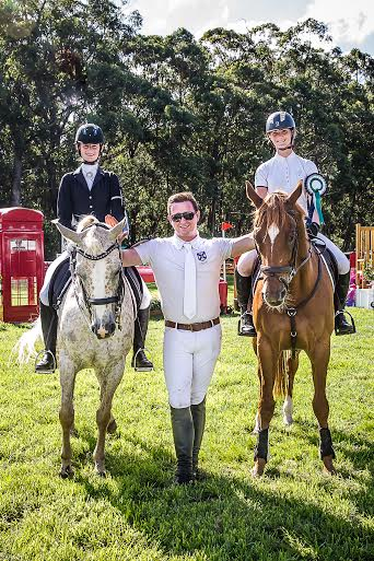 Tanisha Ryan, Sean Cubbitt and Olivia Inglis celebrate a top team finish at Wallaby Hill Equestrian Extravaganza.
