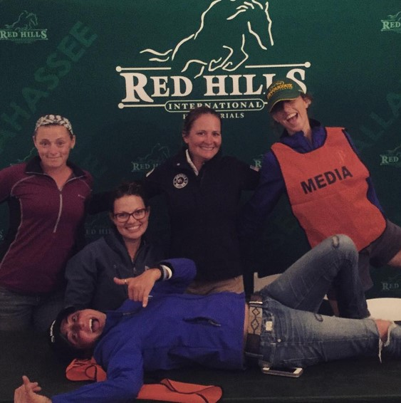 What happens in the Red Hills media tent ... stays in the Red Hills media tent? Photo via EN on Instagram.