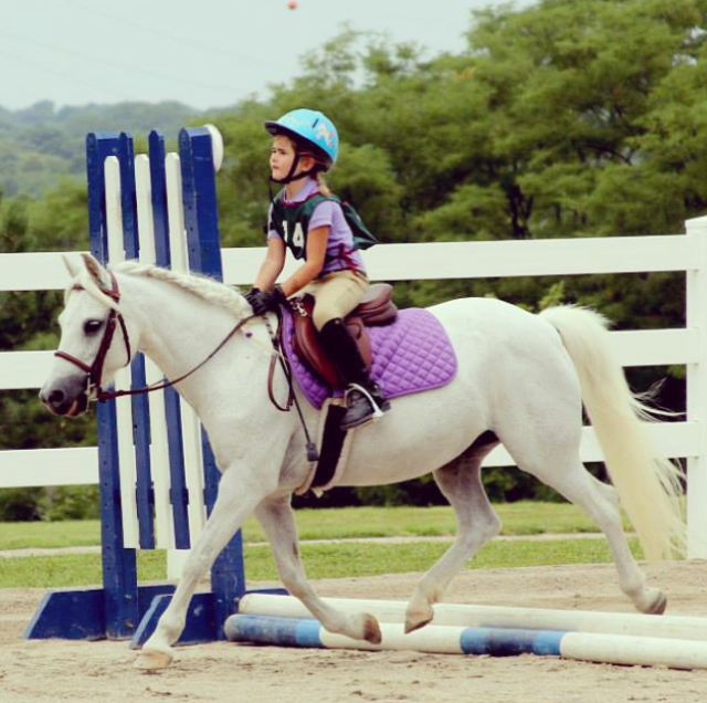 Claire, age 5, and Libby's first Pony Club rally. Photo courtesy of Anne Peters.