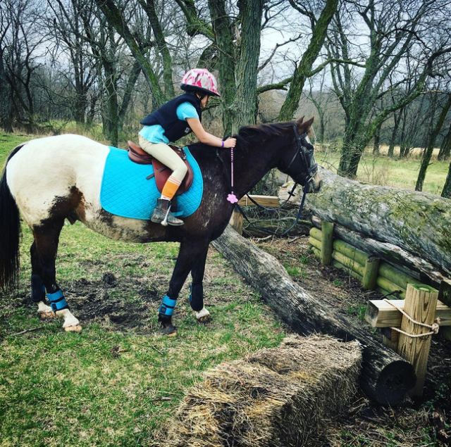 When your dreams are bigger than you....and your pony. Photo courtesy of Anne Peters.