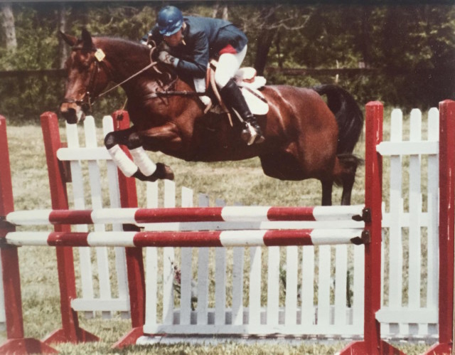 Kim Meier and Charisma at Blue Ridge Horse Trials in 1982. Photo courtesy of Kim Meier.
