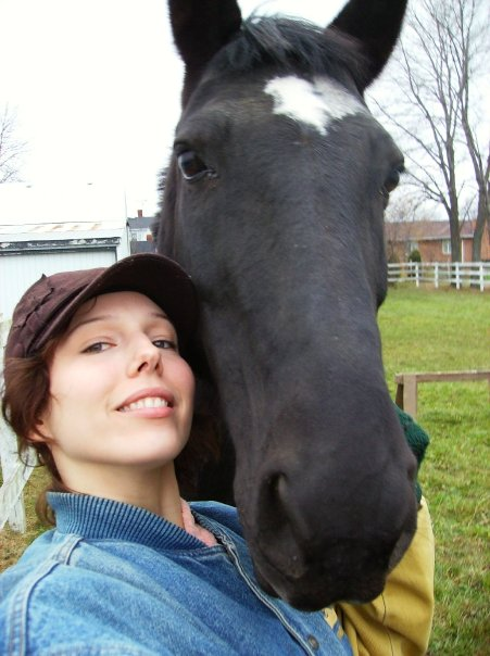Lovey, enjoying the retired life at my family farm. Photo courtesy of Ashley Eve.