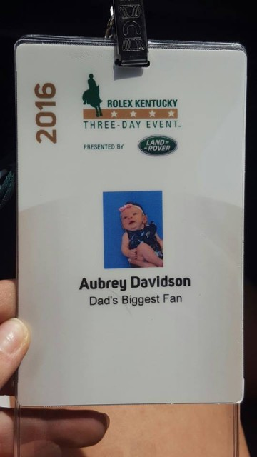 Aubrey Davidson has her first set of credentials! Photo via Andrea Davidson on Facebook.