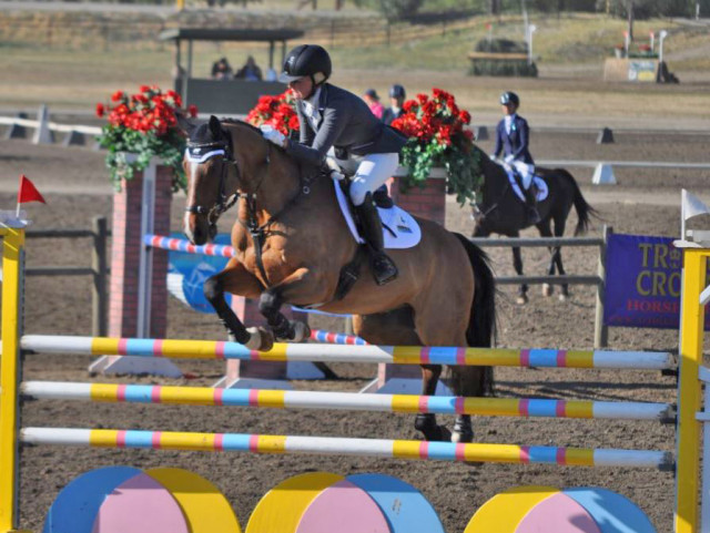 Mackenna Shea and Landioso are your overnight leaders after dominating dressage and getting through stadium. Photo by Lisa Takada.