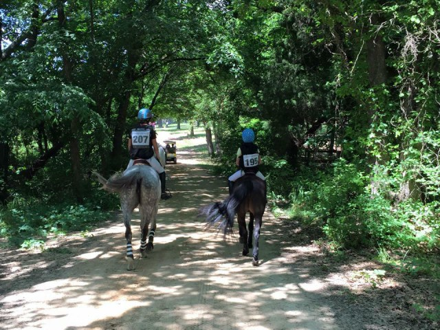 Riders at the 2015 spring Greenwood HT. Photo by Michelle Cheney.