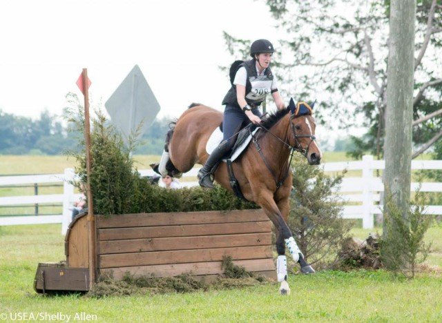 Kaley Bush and Cooper competing Training for Auburn University. Photo courtesy of USEA/Shelby Allen.