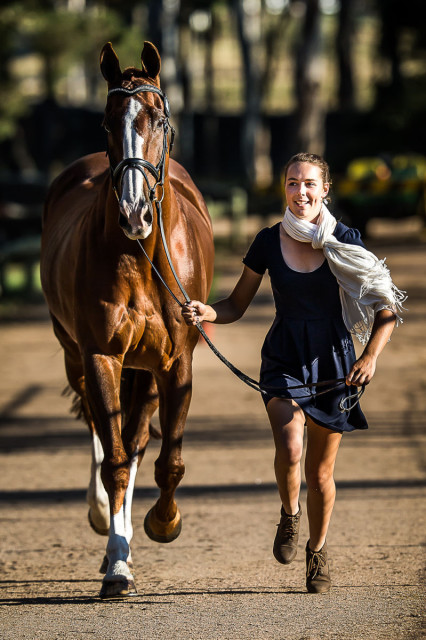 Caitlyn Fischer and Ralphie, taken April 2016. Photo by Stephen Mowbray Photography.