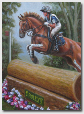 """Karen and Theodore O'Connor,"" inspired by the pair's top finishes at Rolex in 2007 and 2008.  Courtesy of Joan Porter Jannaman."