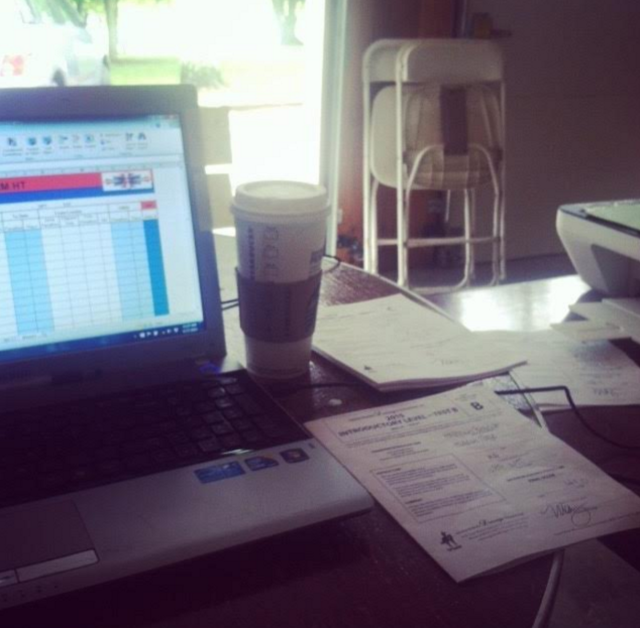 Starbucks and scoring. Photo by Erin Murphy.