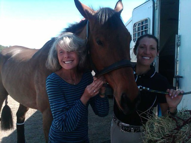 Valerie and Laine — Thoroughbred ambassadors!