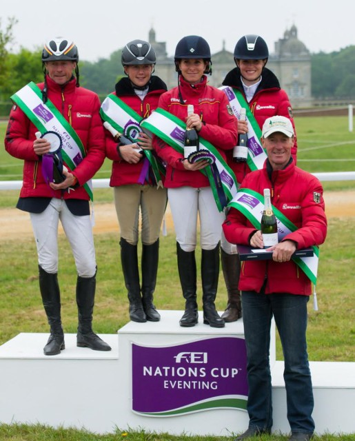 Left to right: Peter Thomsen, Josefa Sommer, Bettina Hoy, Josephine Schnaufer and Christopher Bartle. Photo: Trevor Holt/FEI.