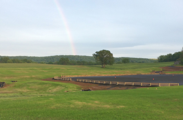 A sneak peek at the new arena at Great Meadow. Photo courtesy of Shauna Alexander.