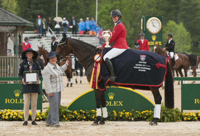 Lauren Kieffer and Veronica clinched the USEF National CCI4* Championship for a second time. Photo by Leslie Threlkeld.