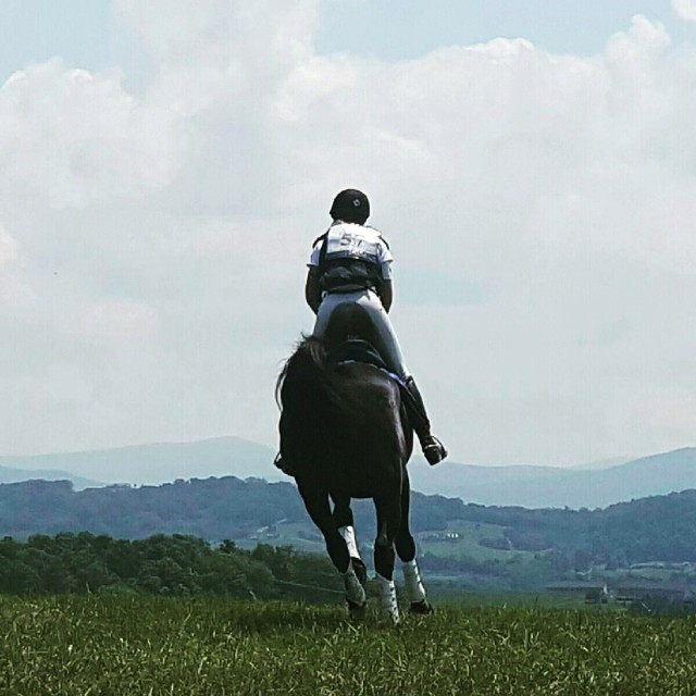 Galloping toward the Blue Ridge Mountains