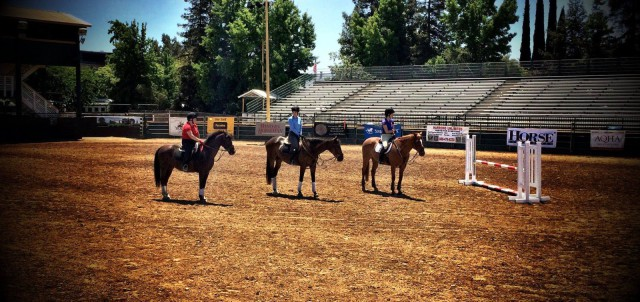 Horse Expo 2014 - Erin Critz, Stephanie Nicora and Hayley Sullivan - Demo riders for Gina Miles.