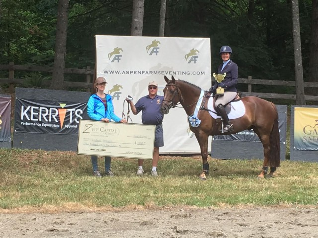 Zeit Capital Novice winner Whitney Shapiro. Courtesy of Christina Gray.