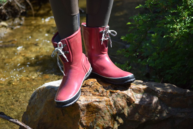 The Urban Farmer boots help to support my feet, while keeping them dry...and it's terrific that the boots don't even smell after all of the hard work they've seen. Photo by Lorraine Peachey.