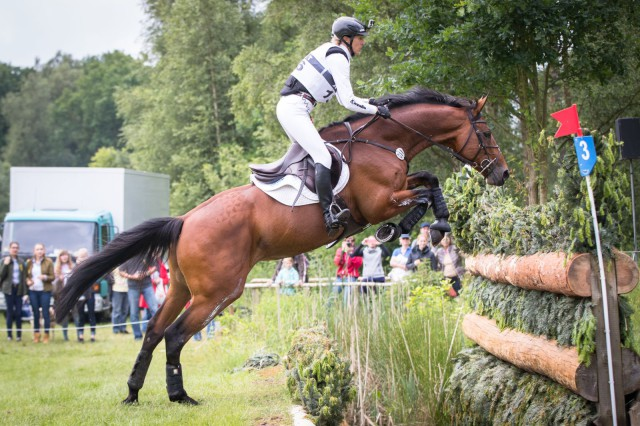 Ingrid Klimke and move up to second in Luhmuhlen CIC3*. Photo by Libby Law Phography