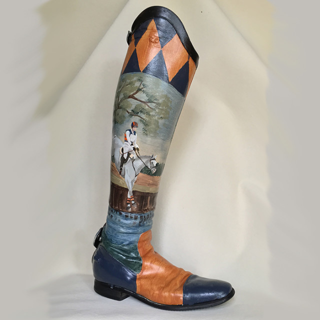 Bid on Lauren Kieffer's hand-painted boot to support Brooke USA! Photo courtesy of Lisa Curry Mair.