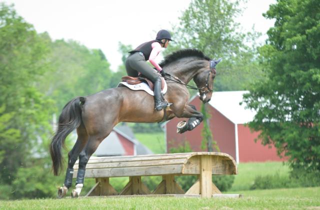 Marcia Kulak on one of her young horses. Photo by Eliza Goldberg.