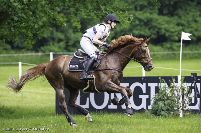 Sandra Auffarth leads Luhmühlen CIC3* after cross country. Photo by Libby Law Photography