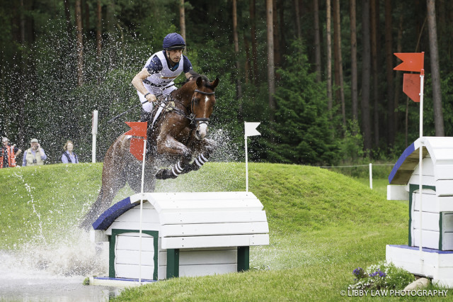 Tim Price and Ringwood Sky Boy sit in third after XC at Luhmuhlen. Photo by Libby Law Photography.