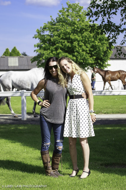 Trot-up pinch-hitter Laine Ashker with Katherine Coleman. Photo by Libby Law Photography.
