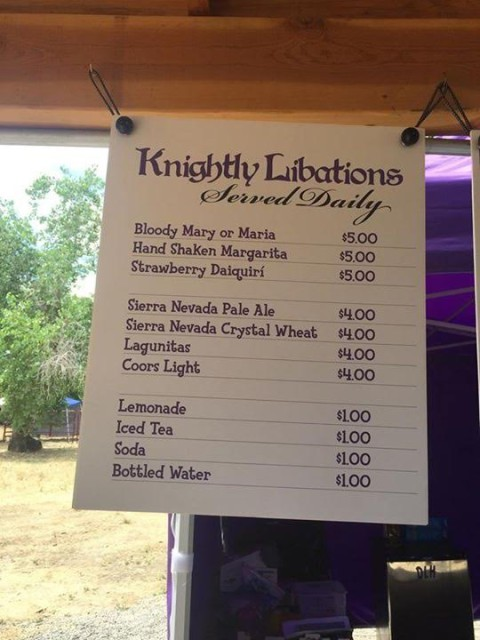 Refreshments at Camelot!